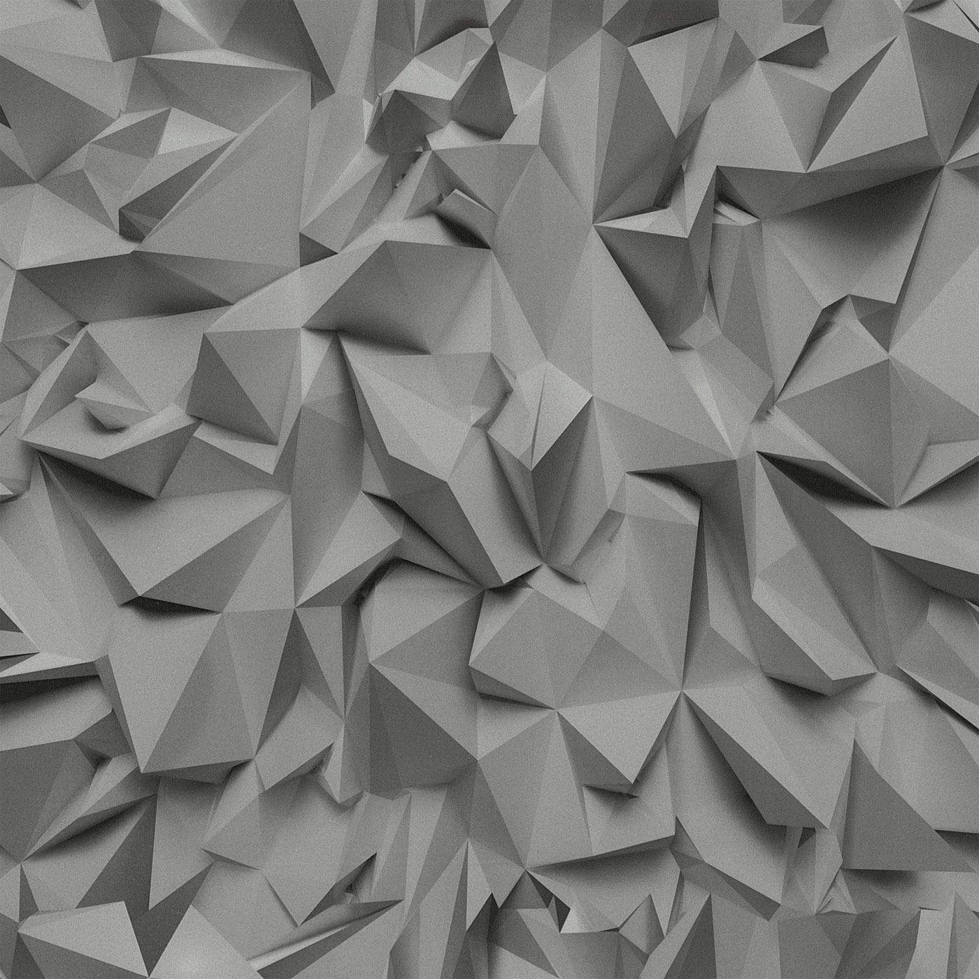 Grey Silver 3d Effect Geometric Triangles Wallpaper Metallic Vinyl Paste Wall 4000278209743 Ebay