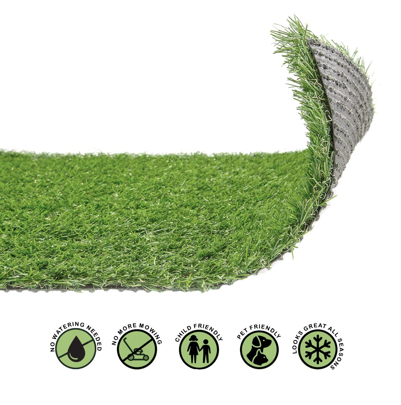 Astro Turf Garden >> Details About 20mm Artificial Grass Realistic Quality Garden Green Lawn Fake Astro Turf 4mx1m
