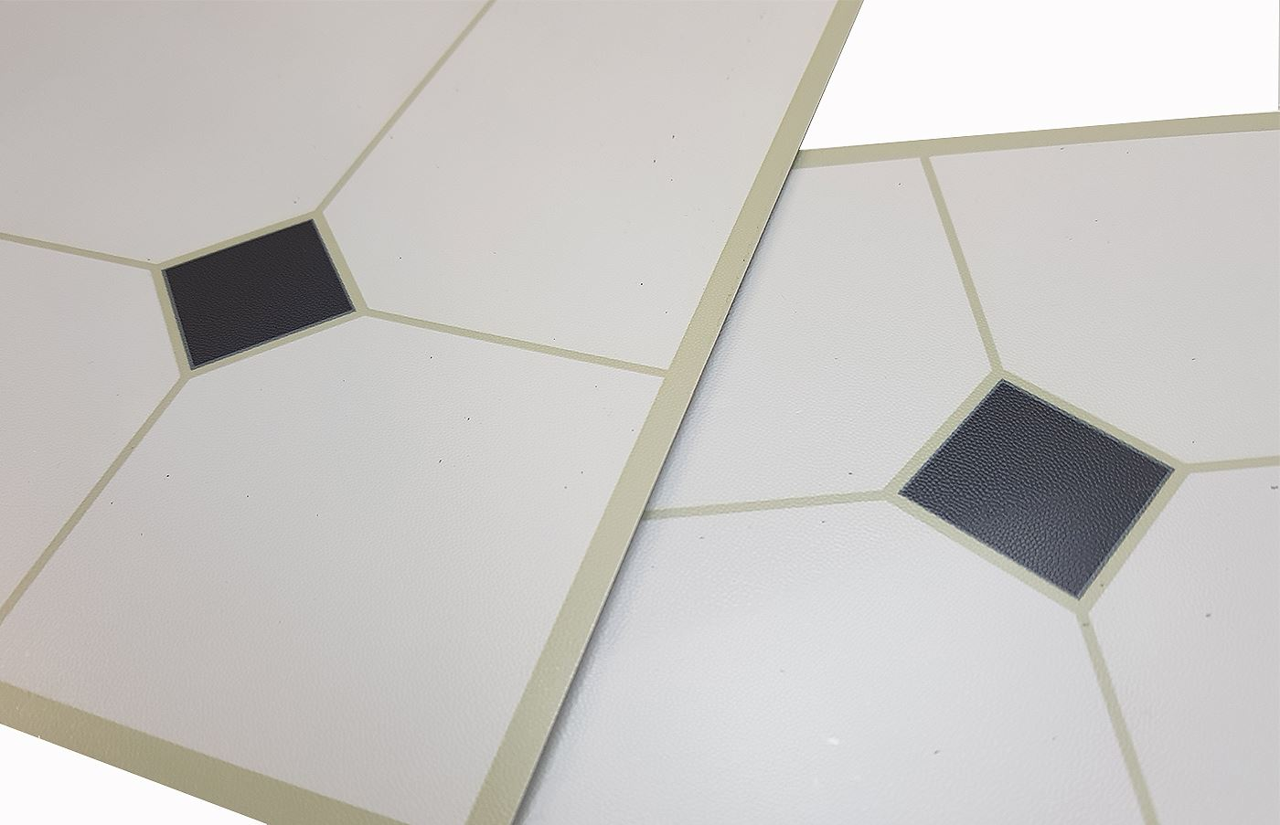 Floor Tiles Self Adhesive Grey Off White Black Vinyl ...