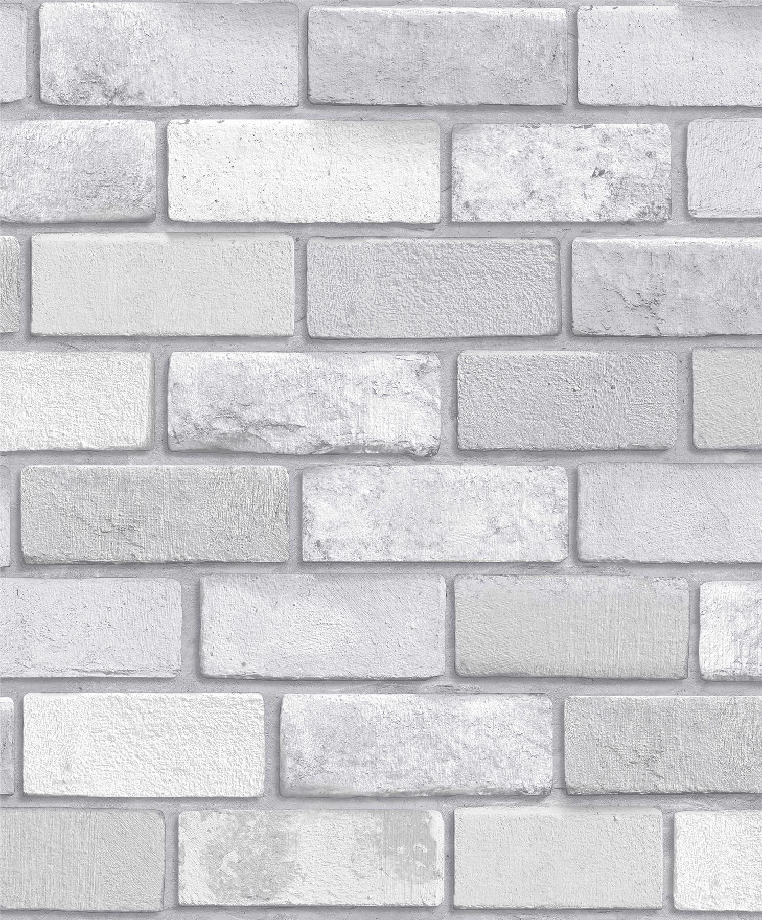 Details About Arthouse Diamond Brick Silver Glitter Textured Vinyl Wallpaper Modern Wallpaper