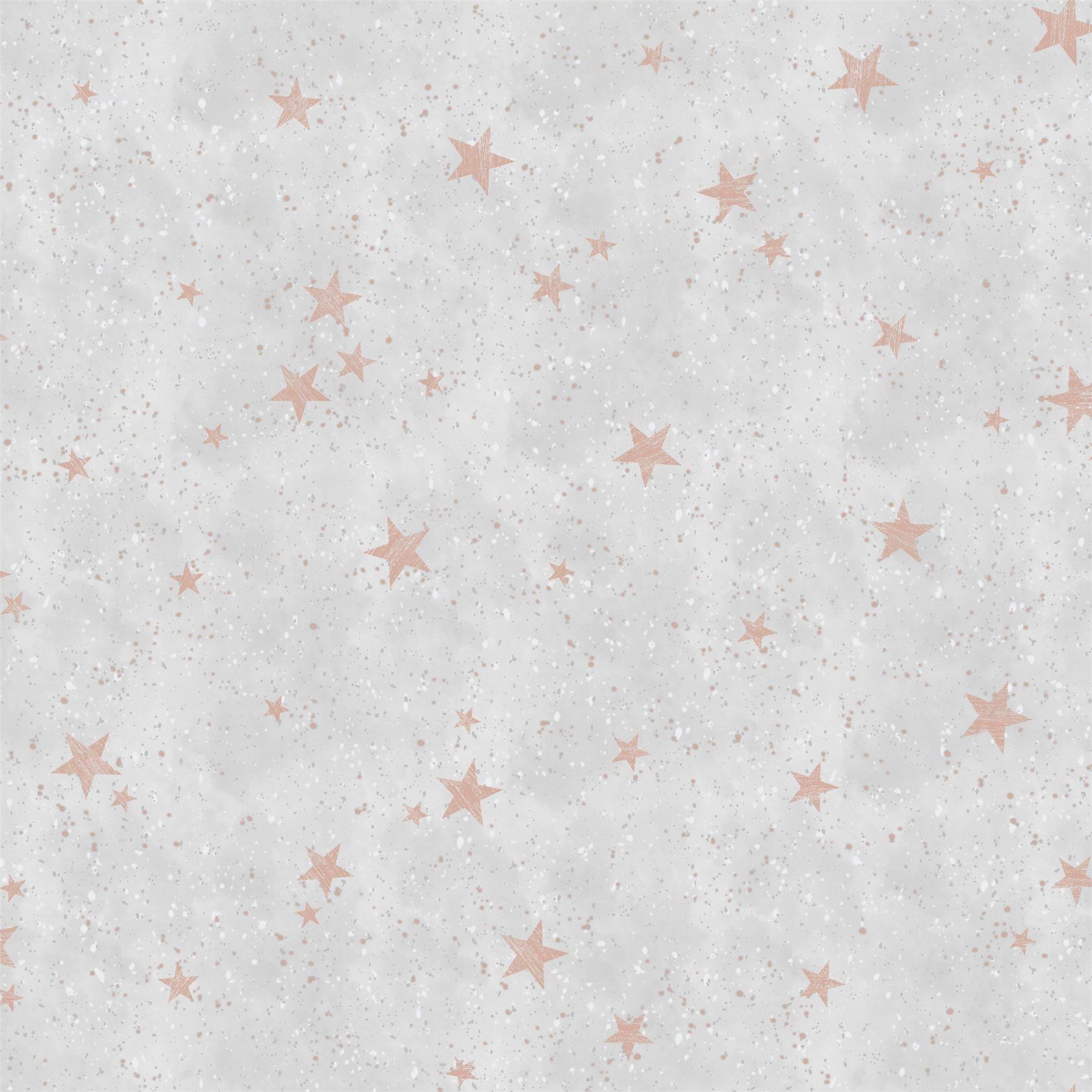 Details About Starlight Stars Rose Gold Wallpaper Grey White Metallic Shimmer Childrens