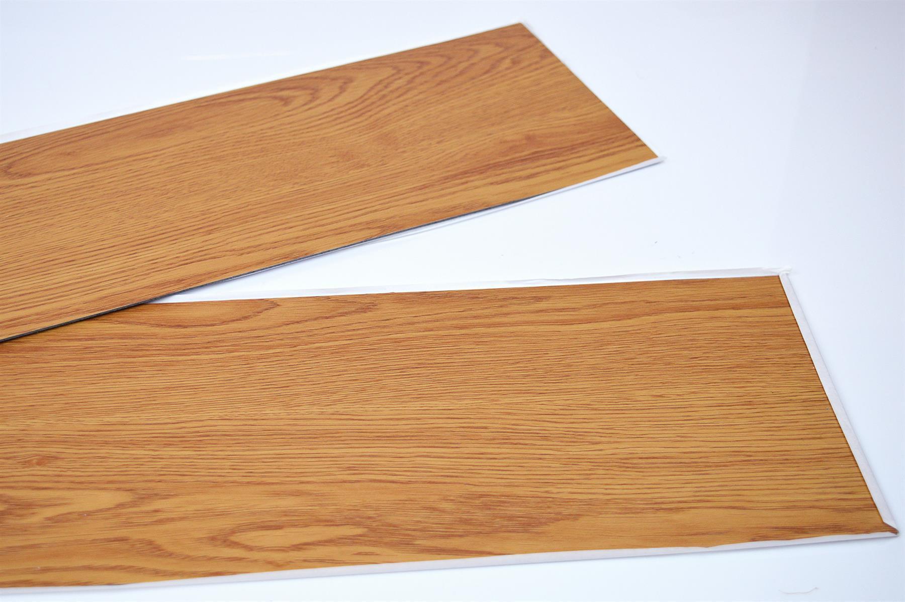 thumbnail 7 - Floor Planks Tiles Self Adhesive Vinyl Brown Wood Flooring Kitchen Bathroom