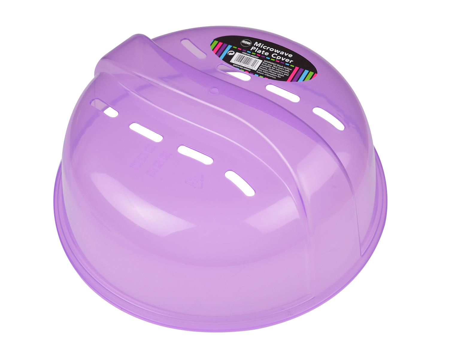 2x Microwave Plate Cover Food Lid Air Vents Handle Kitchen