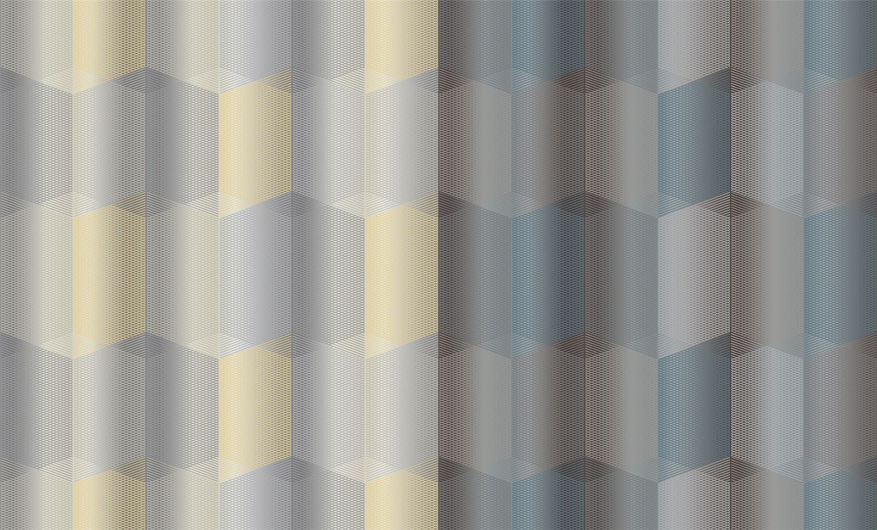 3 X Teal Grey Geometric 3d Hexagon Wallpaper Textured Metallic Grandeco Radial