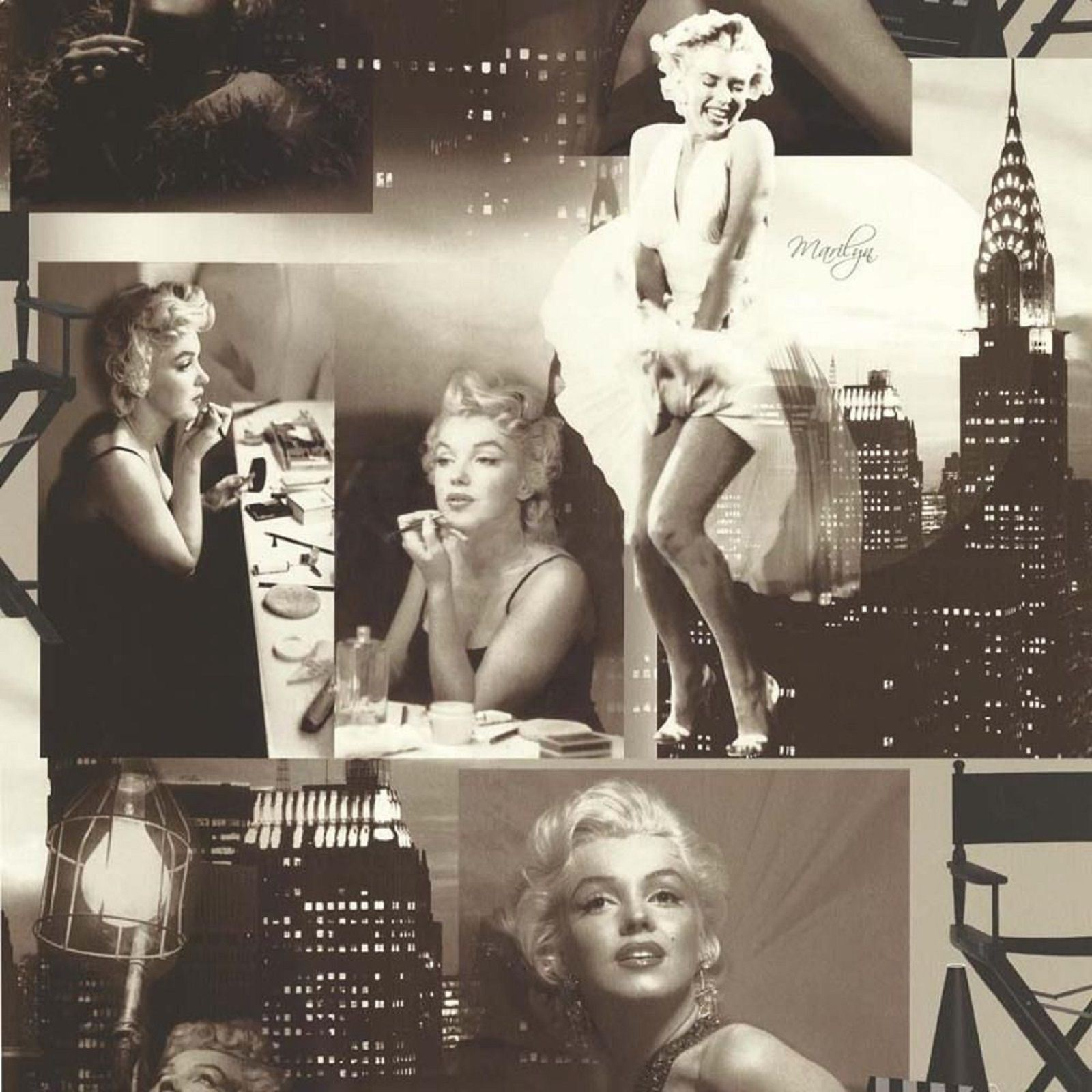 Black White Marilyn Monroe Wallpaper Photos Collage New York City
