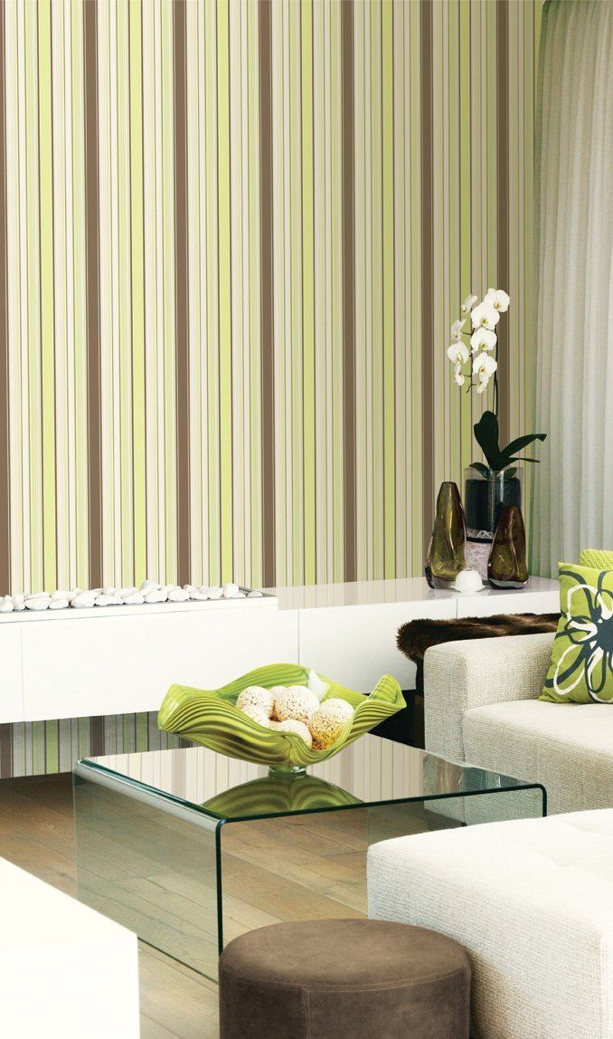 DL31221 Paste The Wall Geo Stripes Ogee Wave Pink Feature Wall Wallpaper