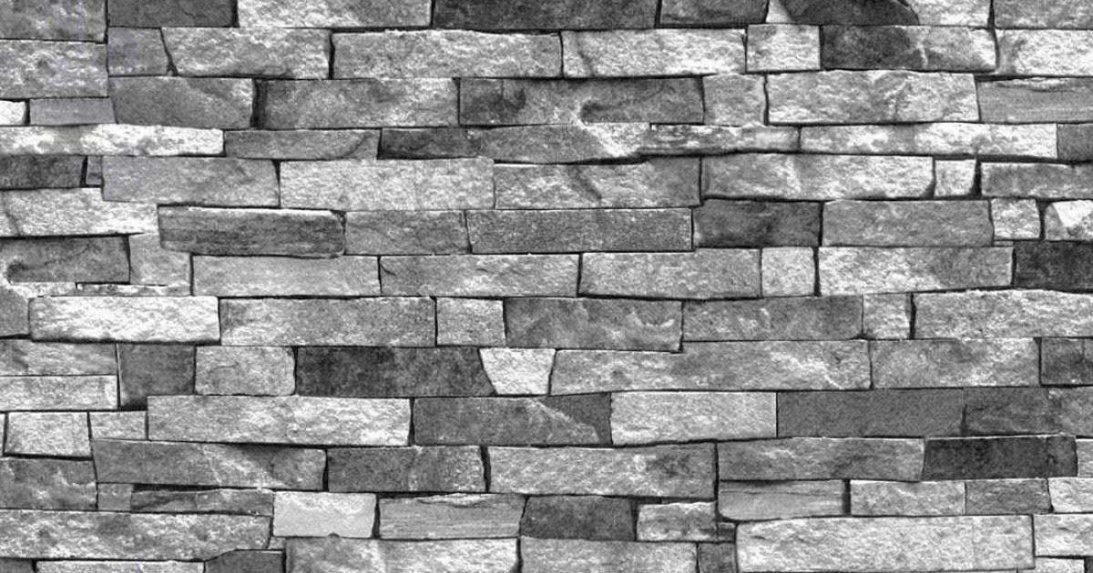 Charcoal Grey Textured Brick SLATE STONE 3D Effect ...