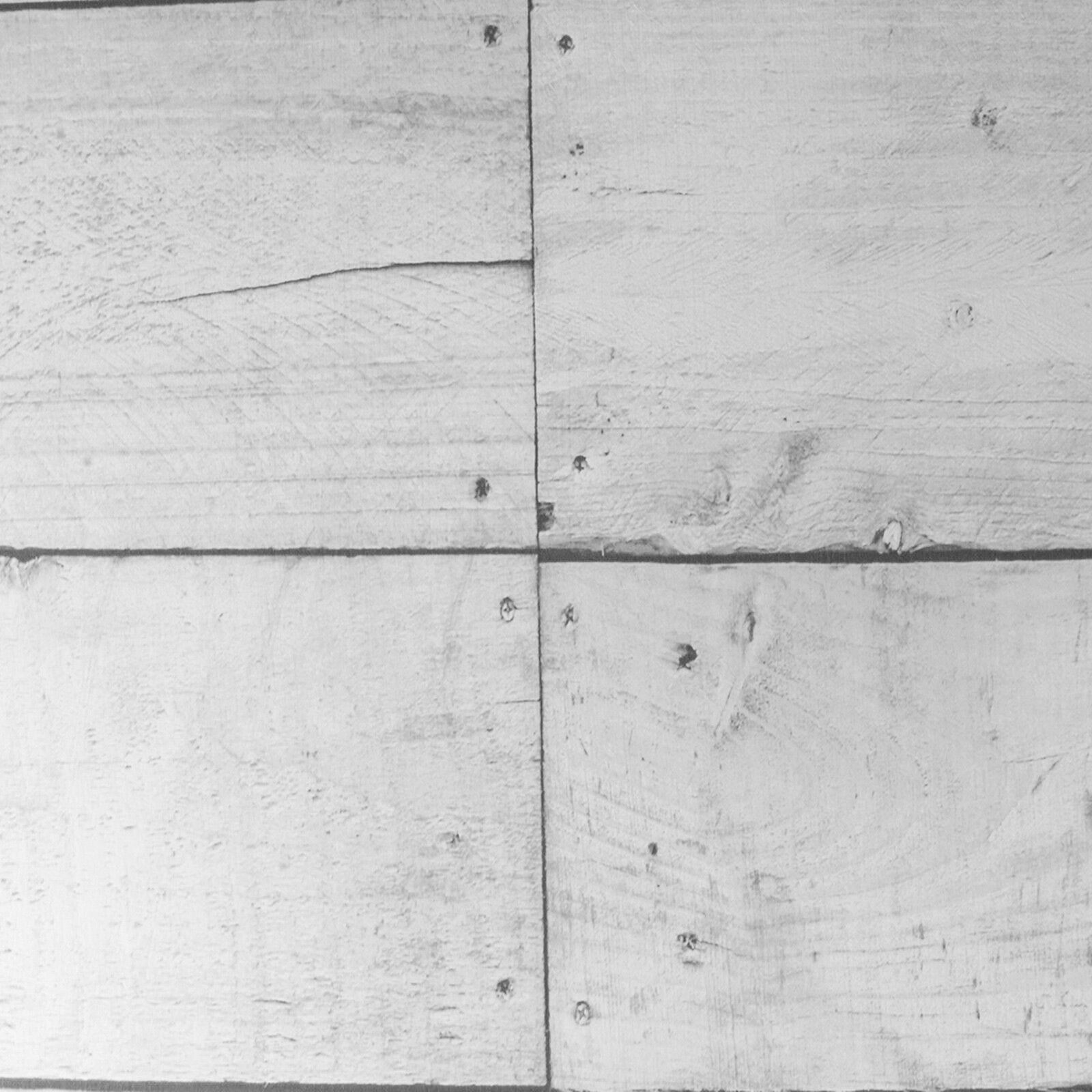 Paste the Wall  Rustic White Grey Wood Plank Effect Feature Wallpaper