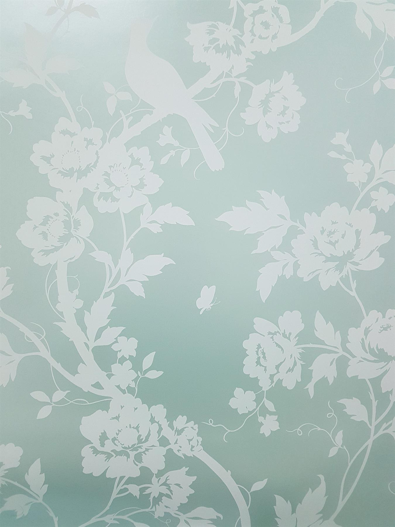 Mint Green Floral Wallpaper Birds Metallic White Fine Decor
