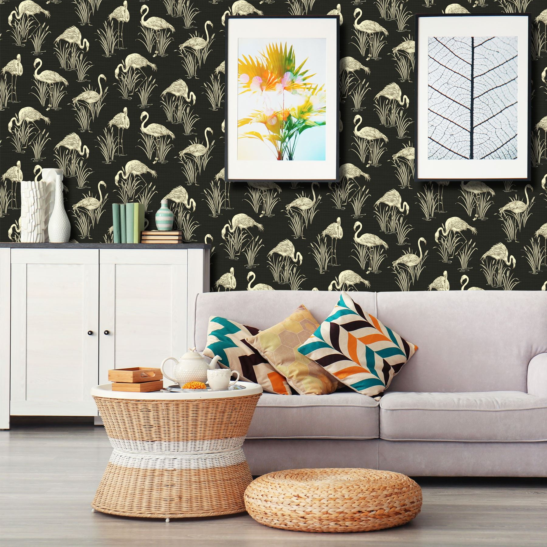 Mixed Range Of Black Wallpaper Various Designs And Patterns Luxury