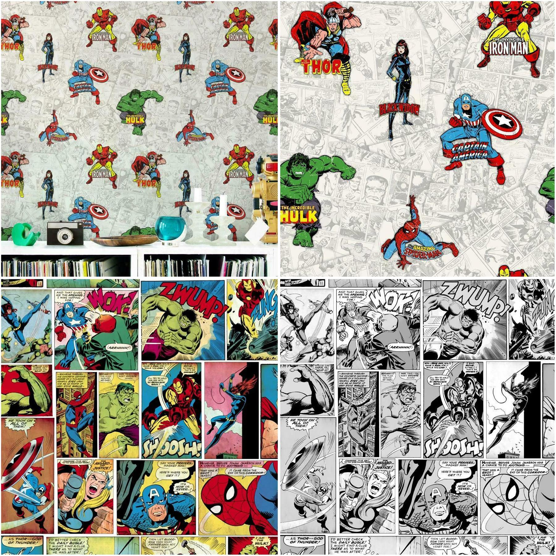 Marvel Heroes Comic Strip Wallpaper Thor Hulk Captain America