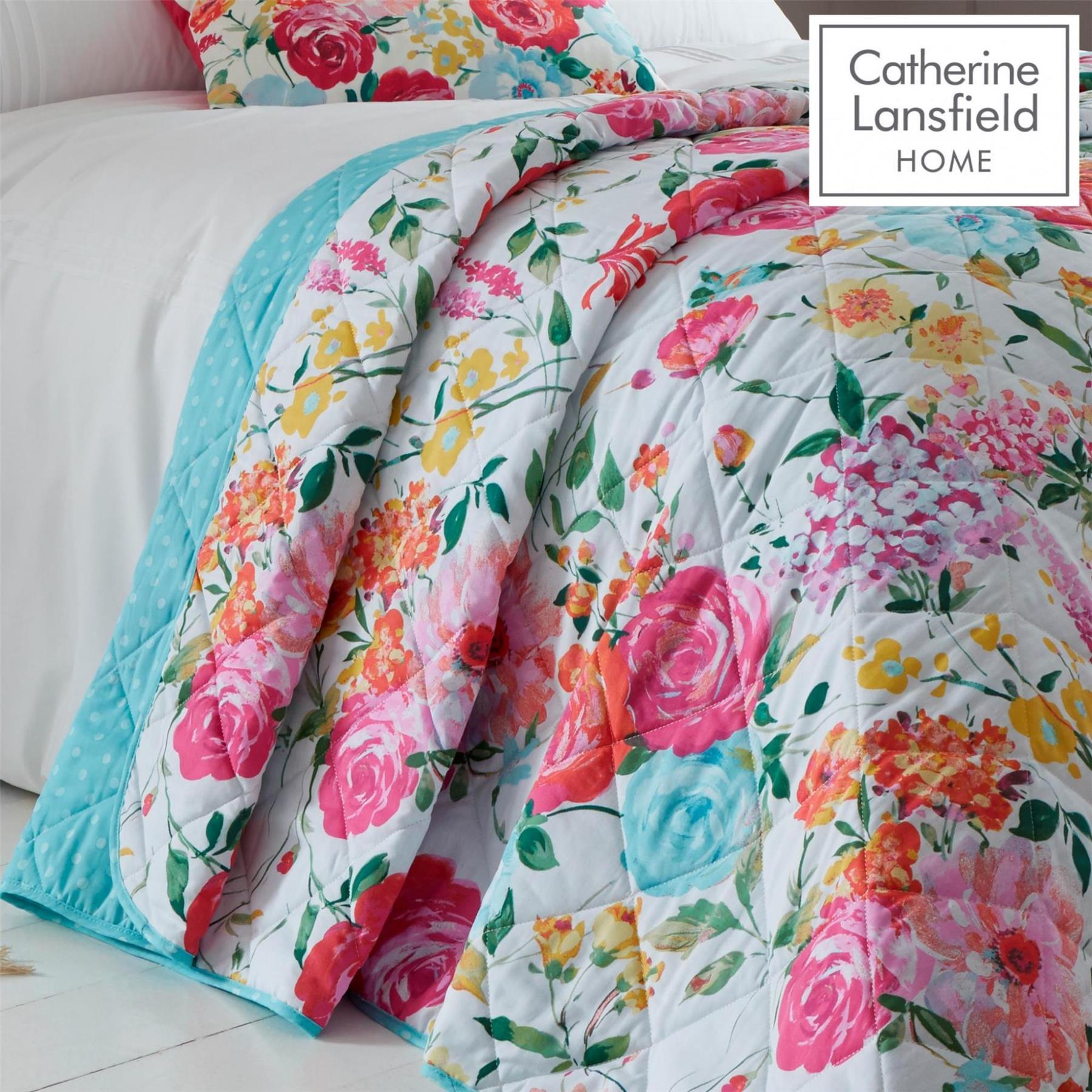 Catherine-Lansfield-biancheria-da-letto-Salisbury-Copripiumino-Set-Tende-Cuscino-Copriletto miniatura 3