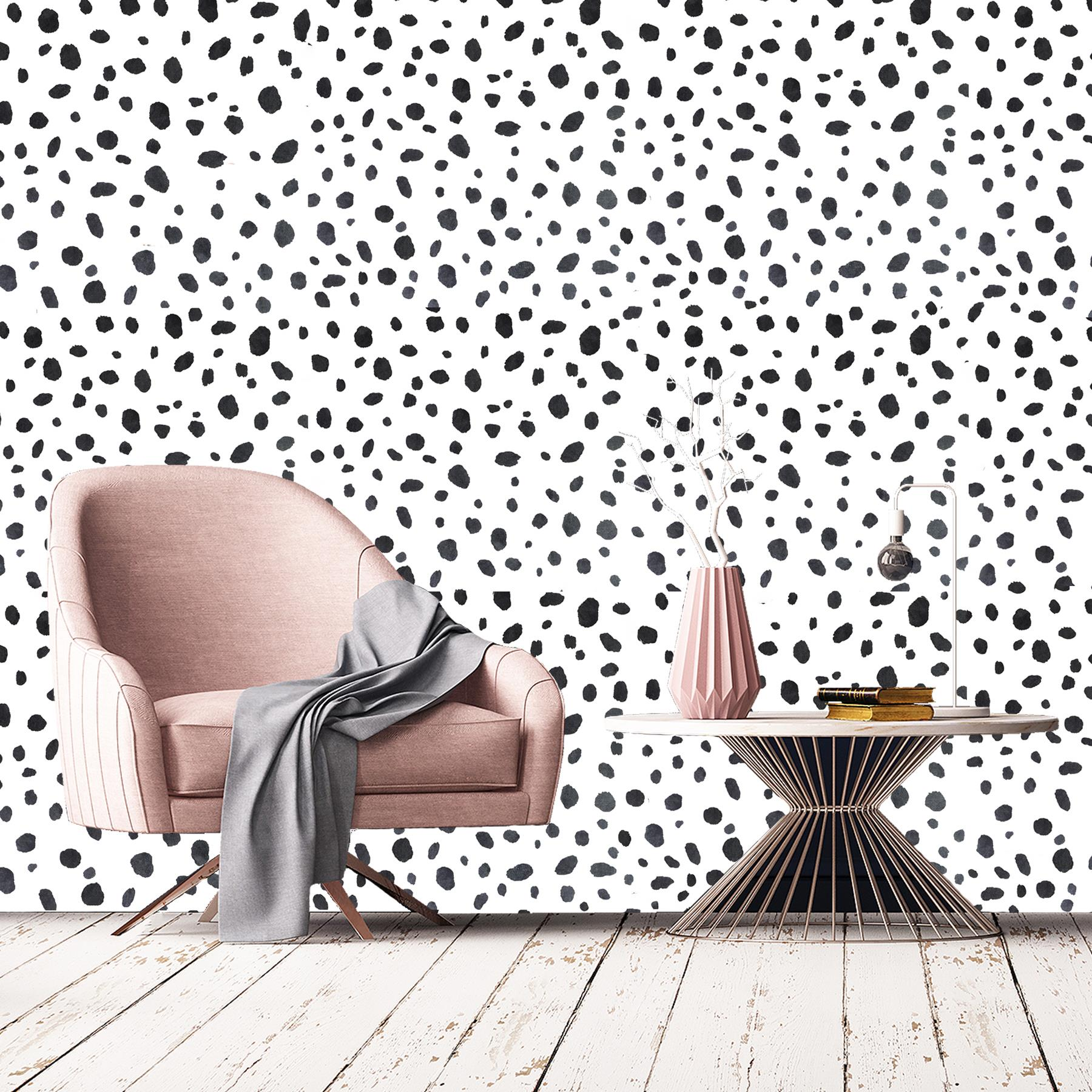 Dalmatian Dots Wallpaper Holden Animal Print Black White ...