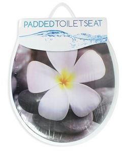 Soft-Padded-Adult-Toilet-Seat-Bathroom-PVC-Wipe-Clean-Comfort-Home thumbnail 5