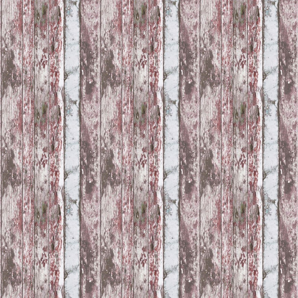 Painted-Rustic-Wood-Wallpaper-Distressed-Red-White-Textured-Vinyl-3-x-Rolls thumbnail 2