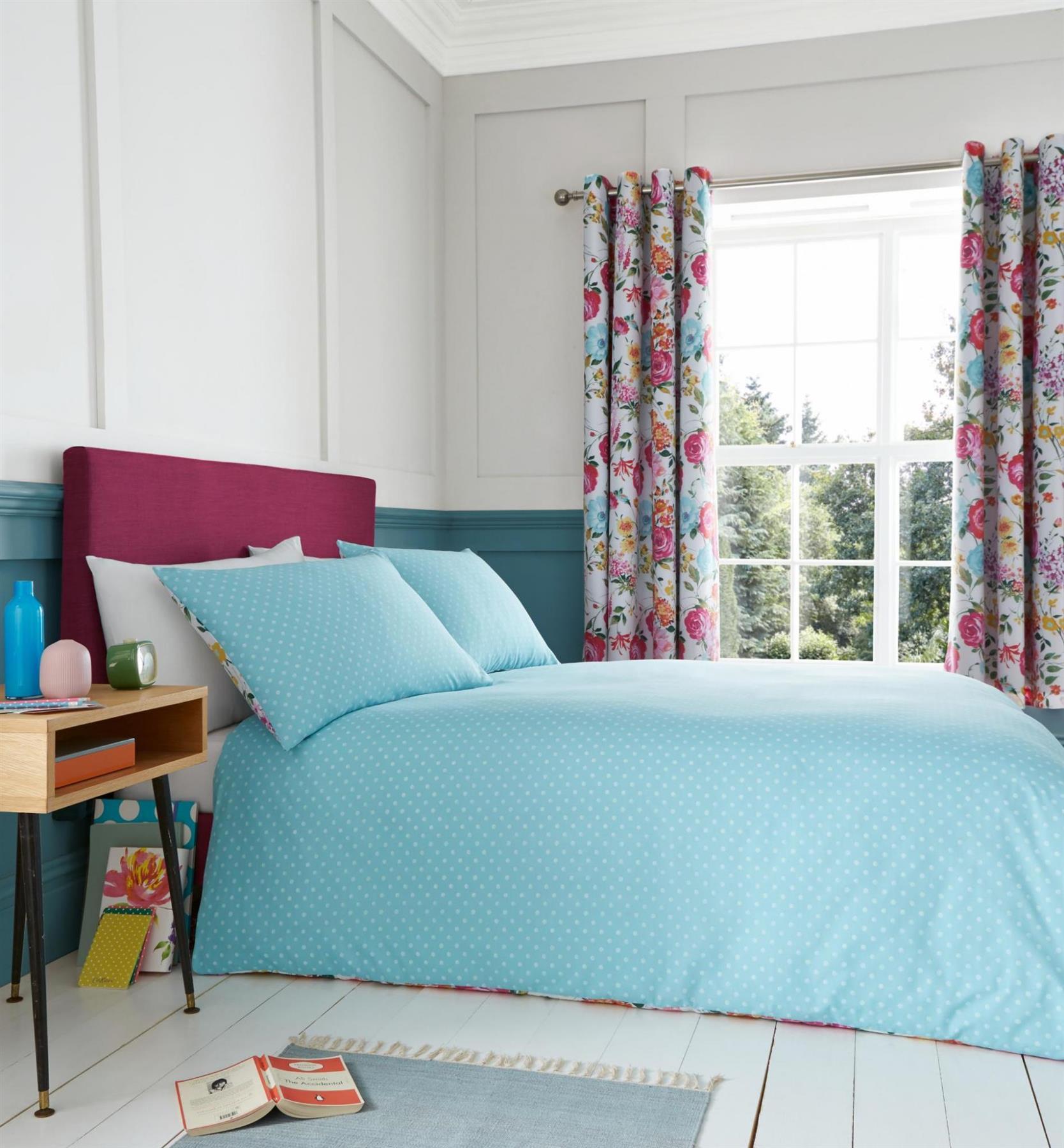 Catherine-Lansfield-biancheria-da-letto-Salisbury-Copripiumino-Set-Tende-Cuscino-Copriletto miniatura 36