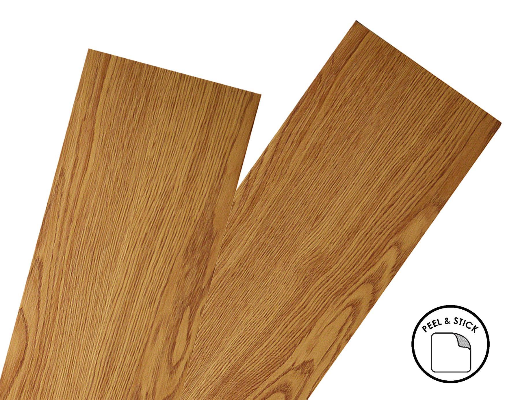 thumbnail 5 - Floor Planks Tiles Self Adhesive Vinyl Brown Wood Flooring Kitchen Bathroom