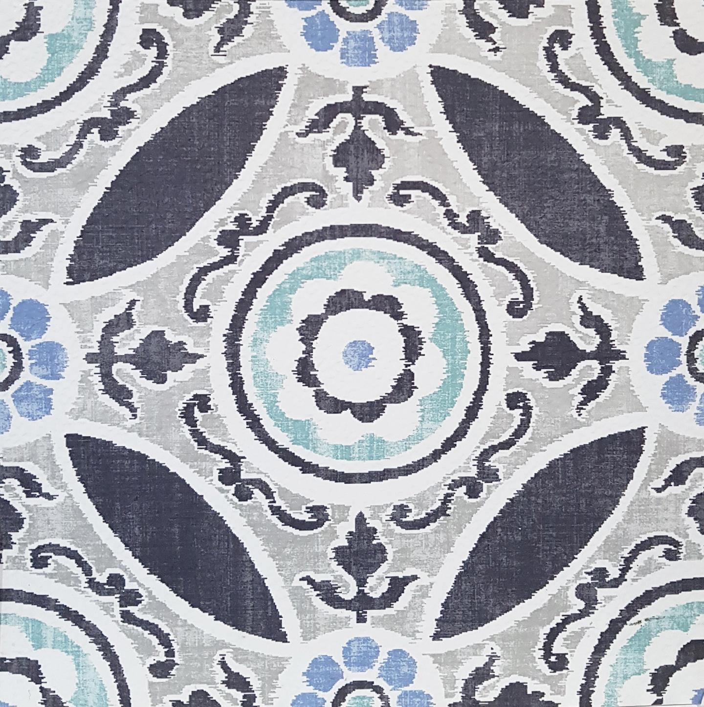 Prix Bas Avec Floorpops Sienna 10pcs Peel Stick Sol Vinyle Carreaux Morrocan Bleu Motif Floral-afficher Le Titre D'origine CoûT ModéRé