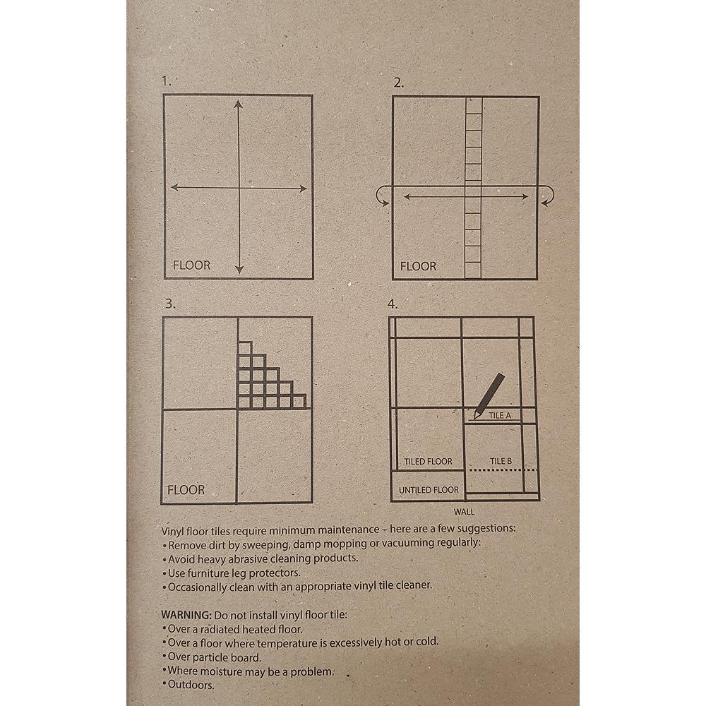 Floor-Tiles-Self-Adhesive-Vinyl-Flooring-Kitchen-Bathroom-Brown-Wood-Grain thumbnail 12