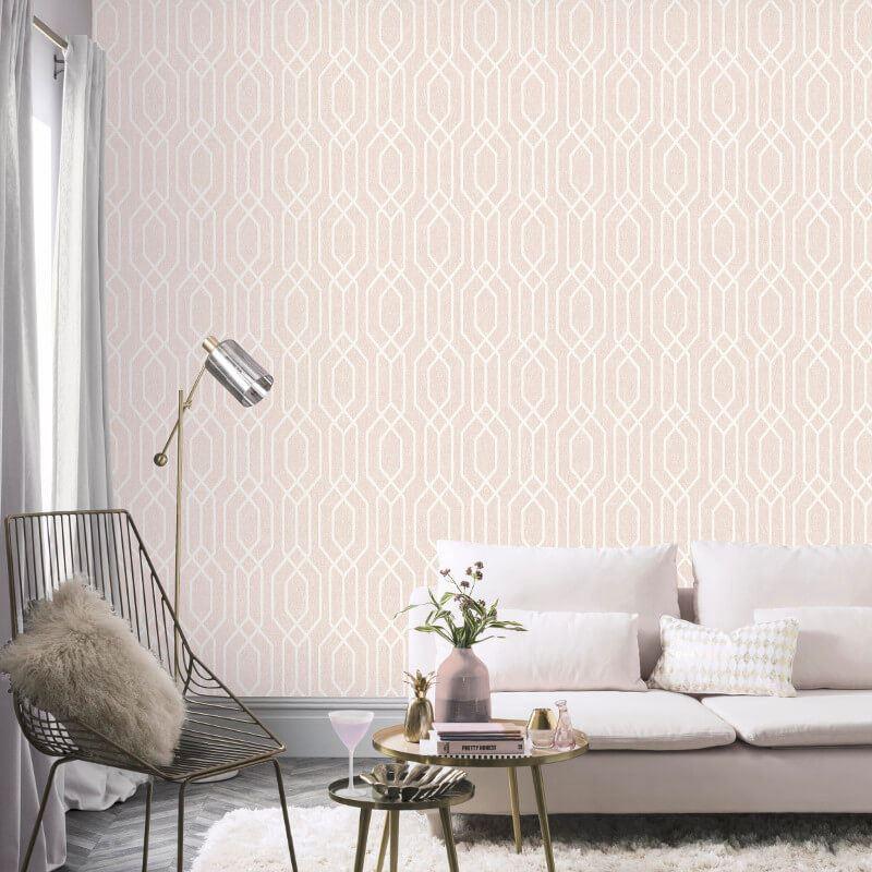 New-York-Geometric-Wallpaper-Trellis-Hexagon-Modern-Luxury-Decor-Arthouse thumbnail 5