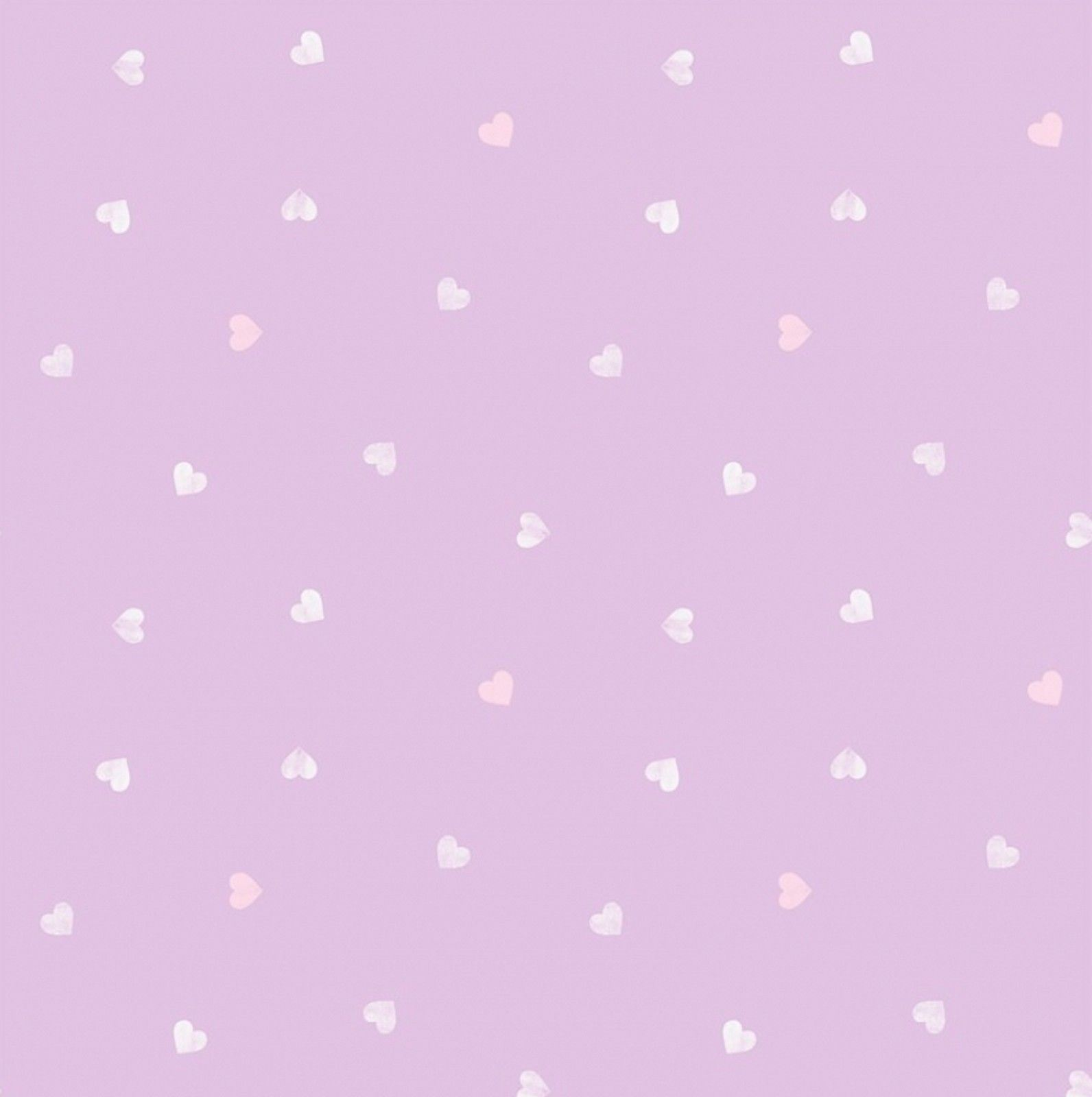 Pastel Lilac Purple Pearlescent Love Heart Girls Kids Nursery Baby
