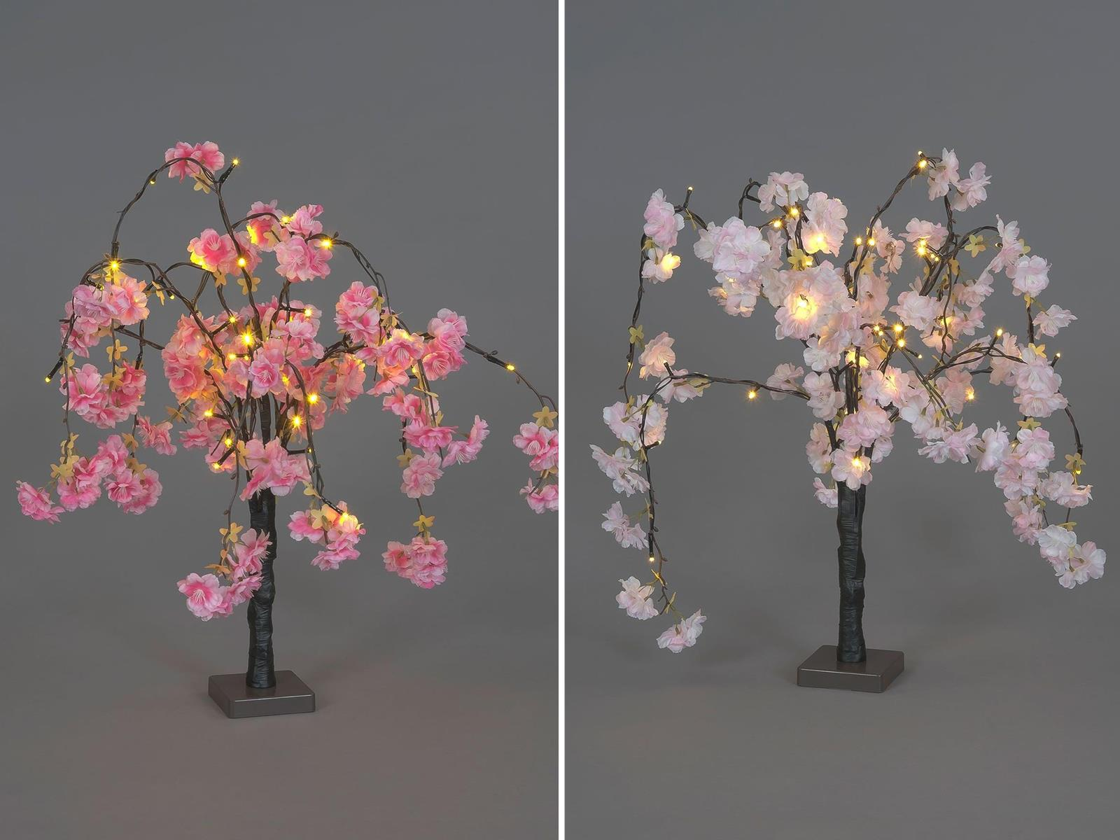 Cherry Blossom Tree Led Home Decoration 48 Pink Flowers 60cm Battery Powered Ebay