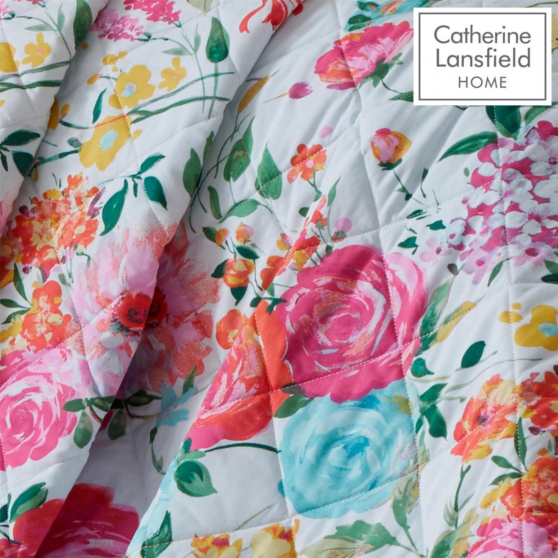 Catherine-Lansfield-biancheria-da-letto-Salisbury-Copripiumino-Set-Tende-Cuscino-Copriletto miniatura 5