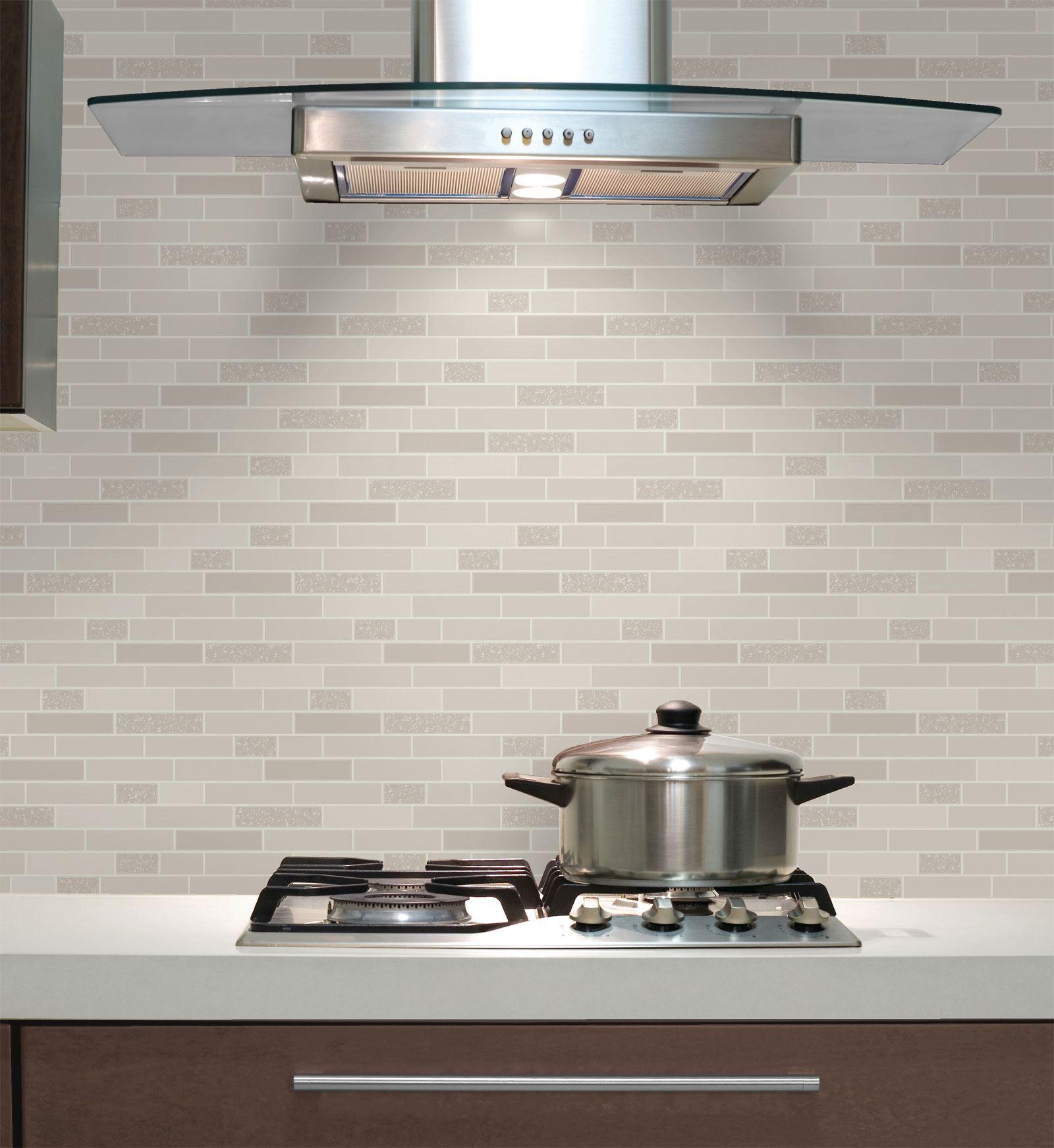 Oblong-Stone-Tile-Kitchen-Bathroom-Wallpaper-Vinyl-Silver-Glitter-Holden-Decor thumbnail 5