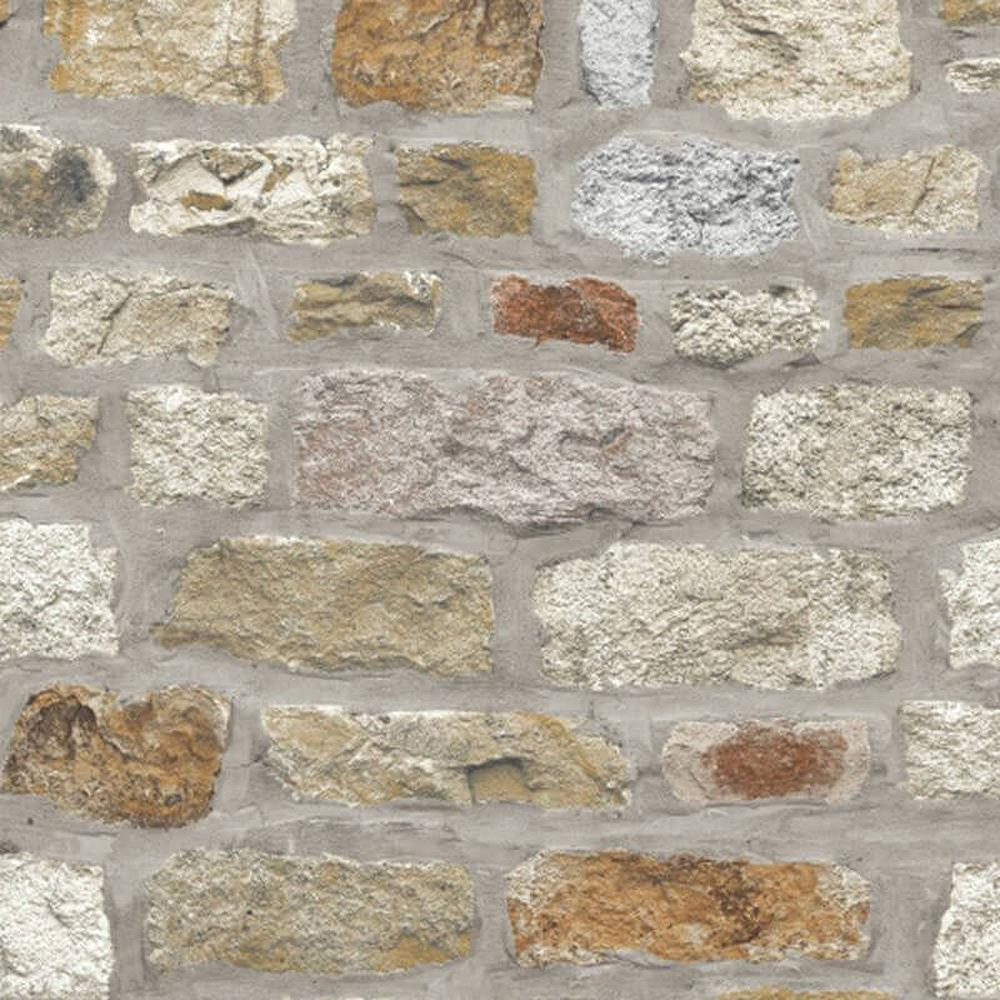 Arthouse Country Stone Rustic Old Brick Wall Wallpaper Faux Effect Realistic