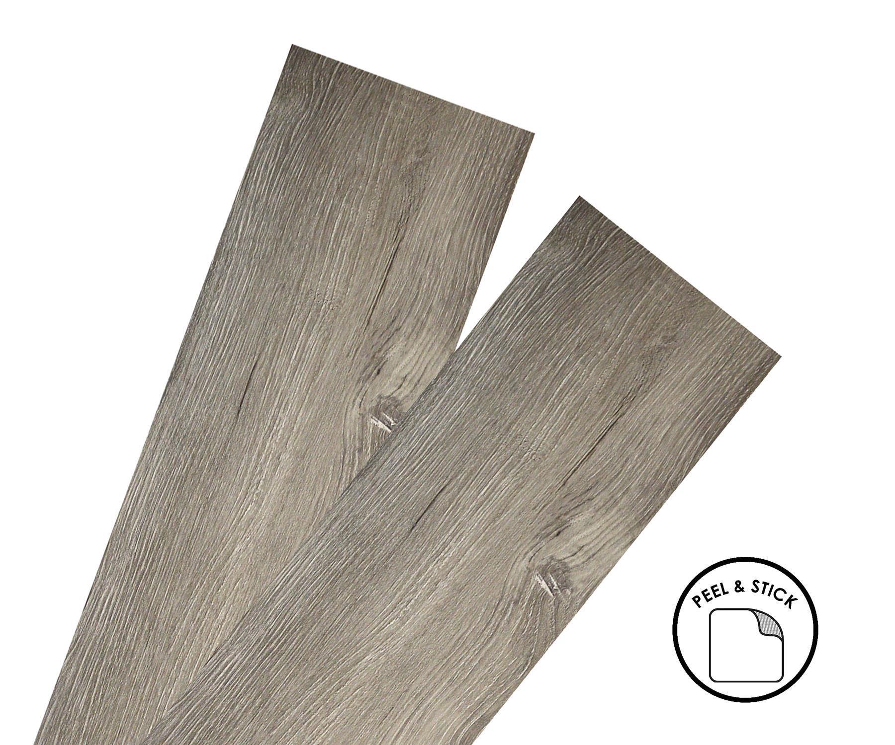 thumbnail 14 - Floor Planks Tiles Self Adhesive Dark Grey Wood Vinyl Flooring Kitchen Bathroom