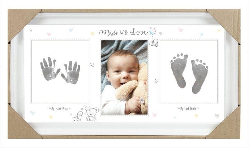 Baby Keepsake Footprint Hand Print Photo Frame Ink Pad Picture Frame ...