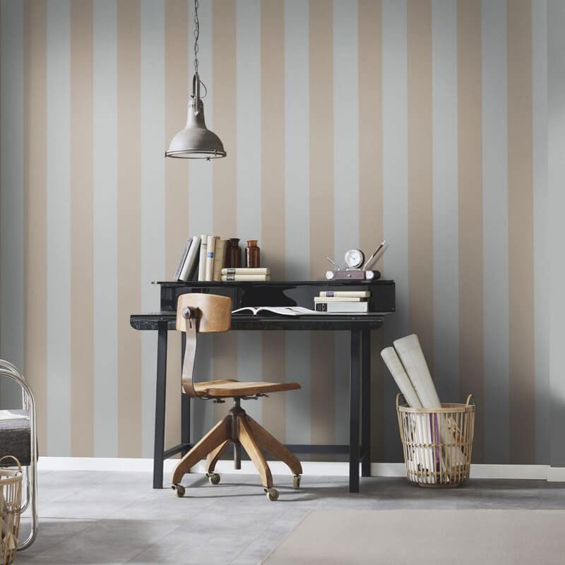 Stripe-Striped-Wallpaper-Paste-The-Wall-Luxury-Modern-4-Colours-Erismann thumbnail 7