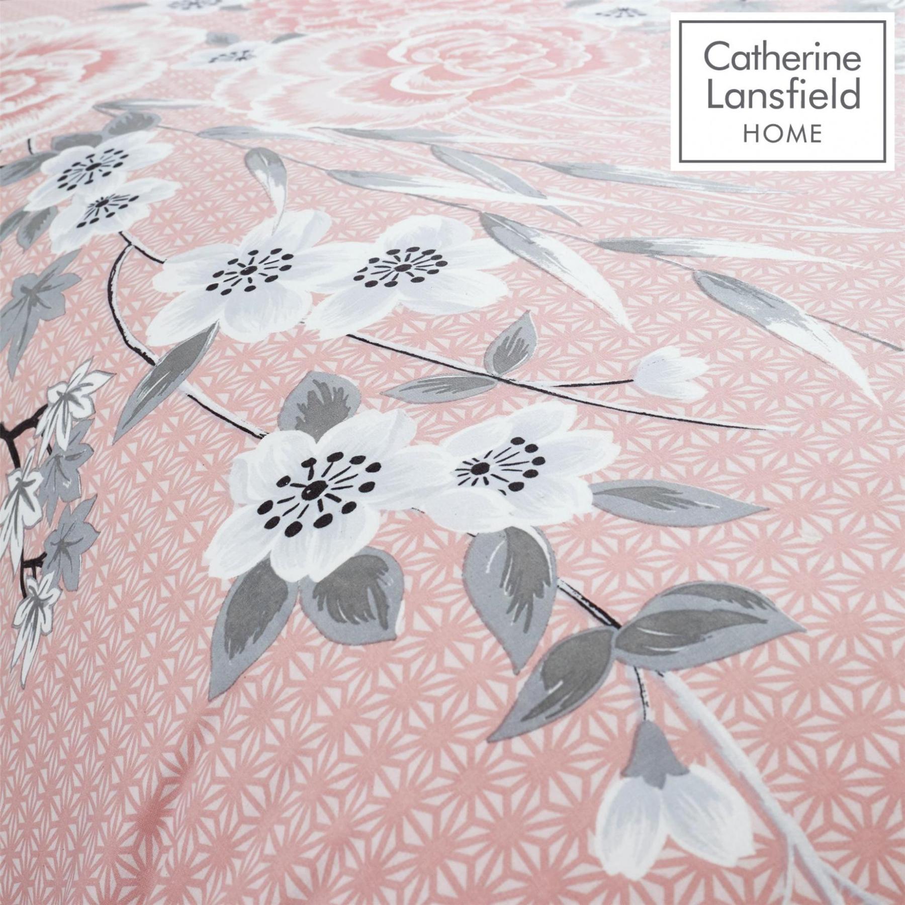 Catherine-Lansfield-Conjunto-de-Edredon-Reversible-oriental-en-Rosa-Ropa-De-Cama-Almohadas miniatura 5