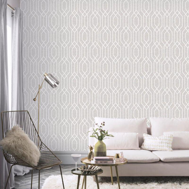 New-York-Geometric-Wallpaper-Trellis-Hexagon-Modern-Luxury-Decor-Arthouse thumbnail 3