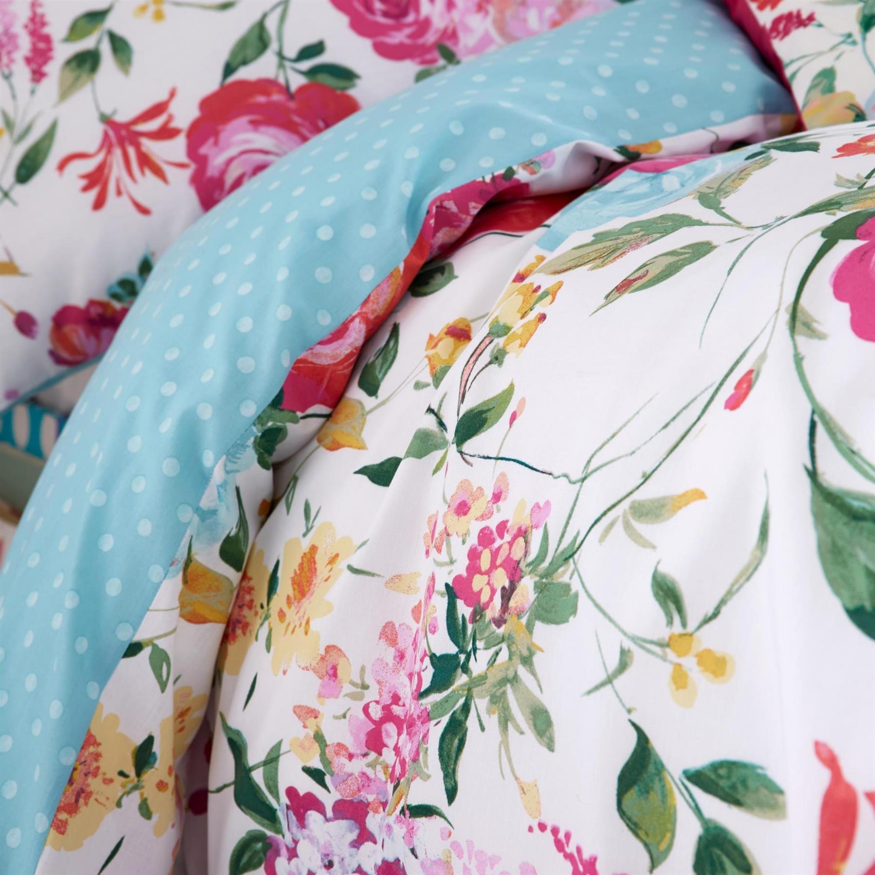 Catherine-Lansfield-biancheria-da-letto-Salisbury-Copripiumino-Set-Tende-Cuscino-Copriletto miniatura 33