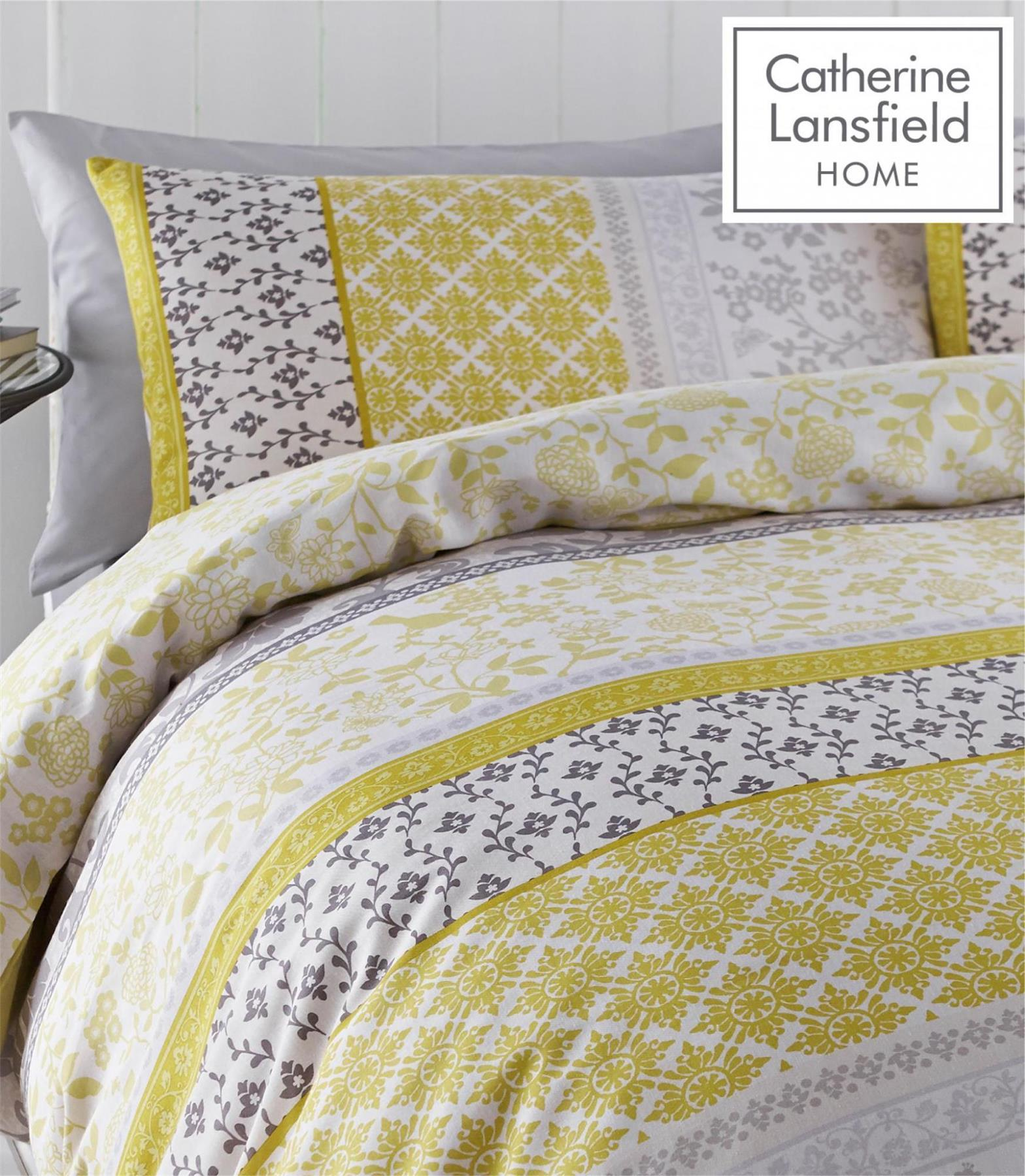 Catherine-Lansfield-Oriental-Birds-Duvet-Cover-Bedding-Set-Curtains-Easy-Care thumbnail 5