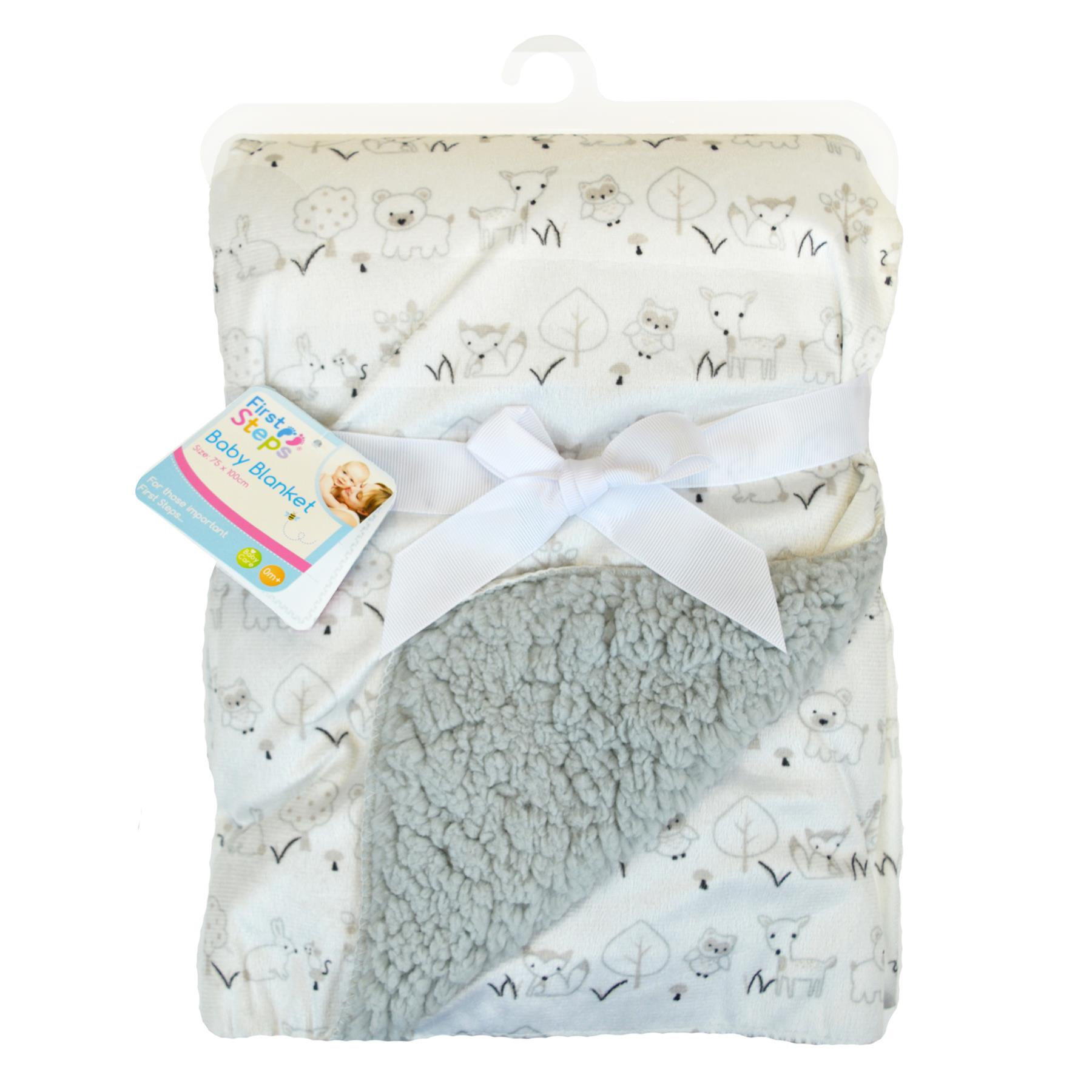 Babies Soft Fleece Blanket Wrap Teddy Bears 75 x 100cm