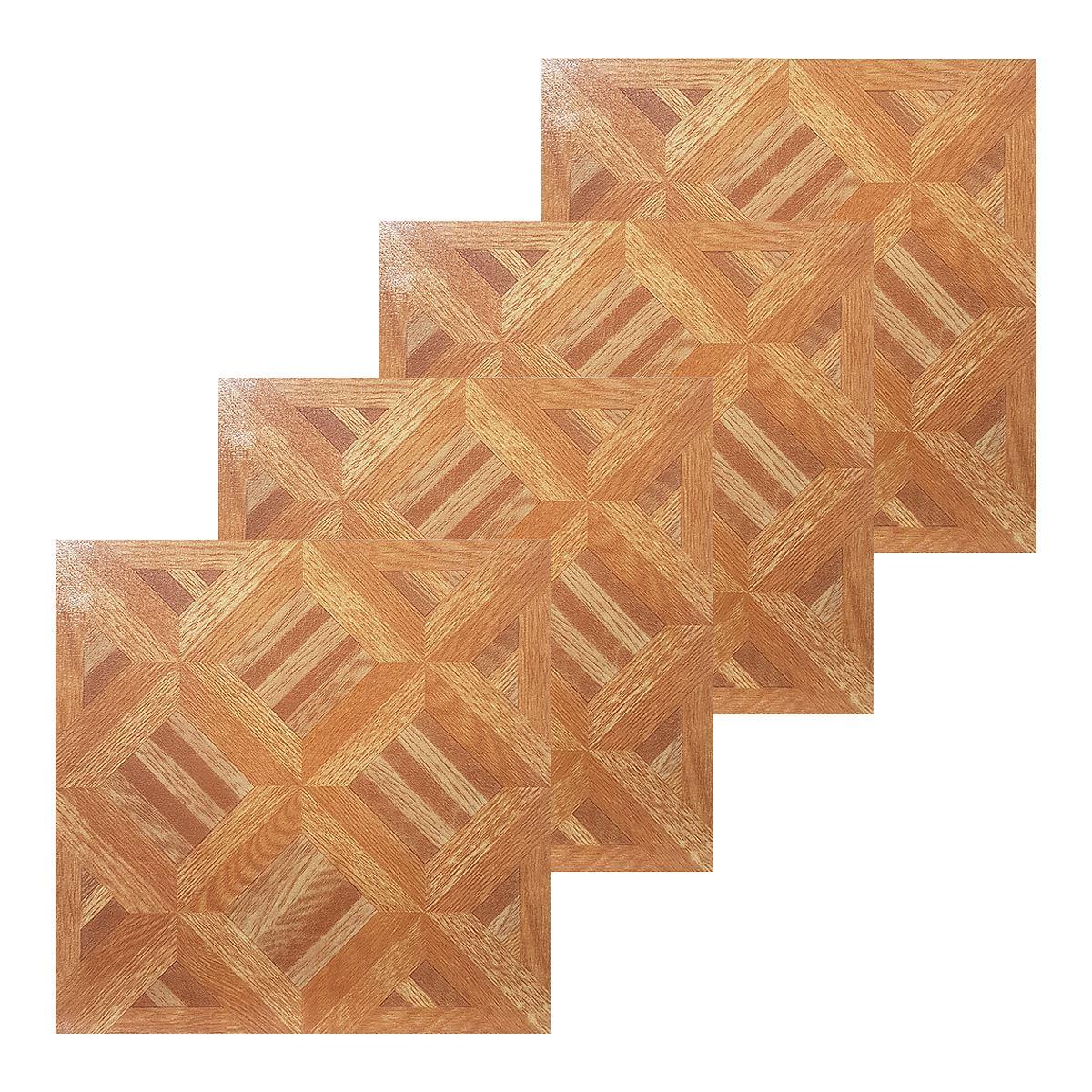 Floor Tiles Self Adhesive Wood Parquet Effect Vinyl