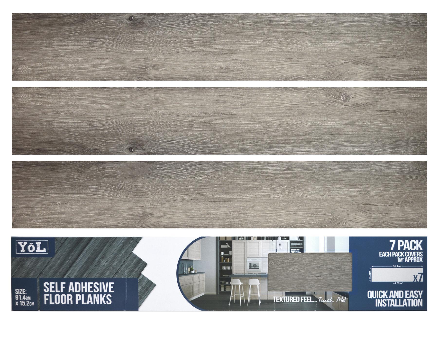 thumbnail 2 - Floor Planks Tiles Self Adhesive Dark Grey Wood Vinyl Flooring Kitchen Bathroom