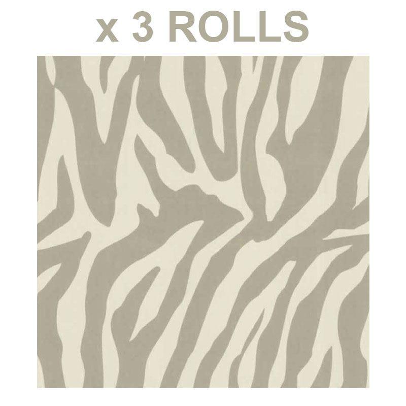 87f4b0d62da5a4 Beige Cream Zebra Wallpaper Animal Print Paste The Wall Luxury Modern x 3  Rolls