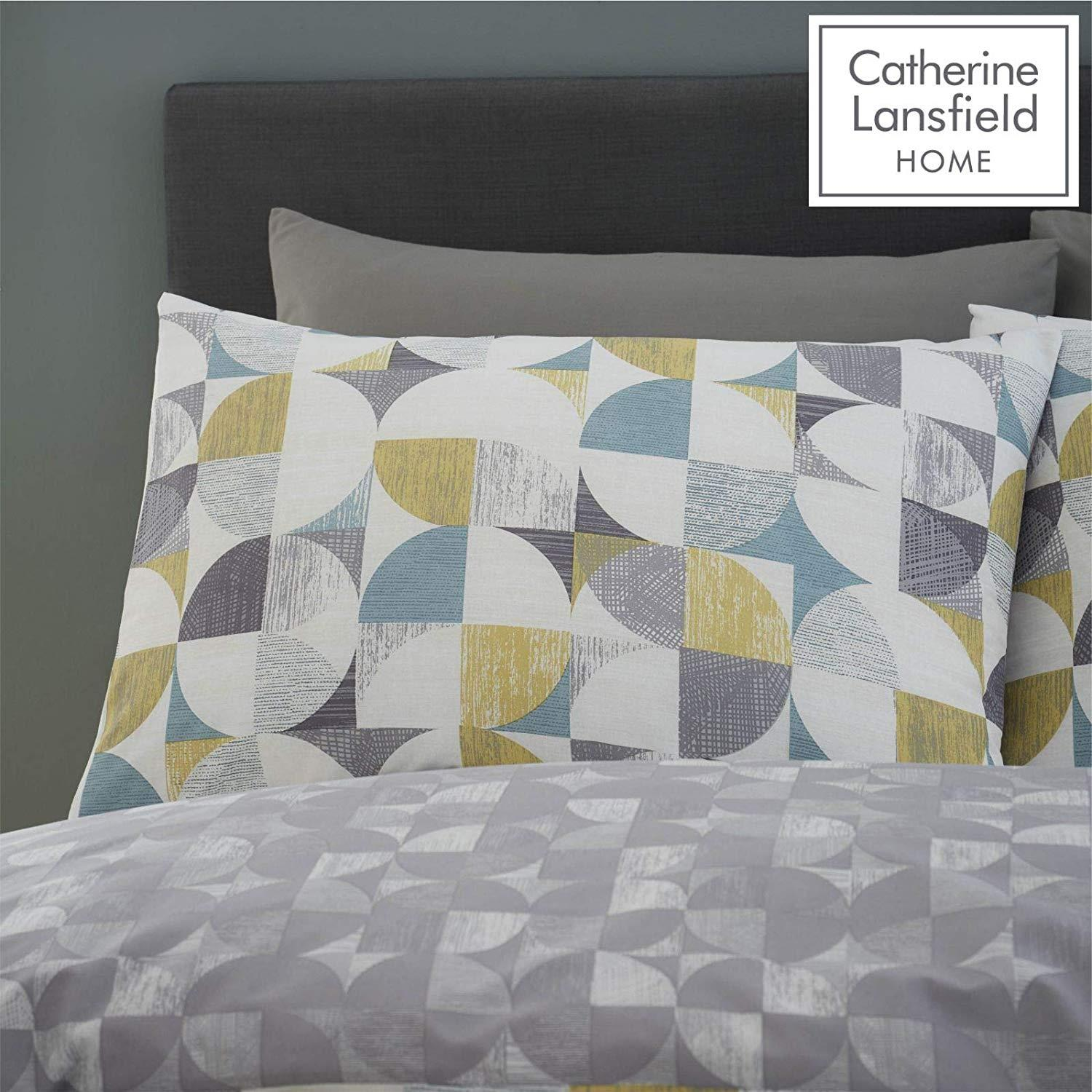 Catherine-Lansfield-Retro-Circles-Multi-Duvet-Set-Reversible-Bedding-Curtain thumbnail 14