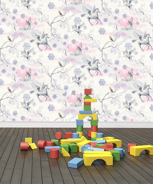 Girls-Unicorn-Wallpaper-Children-039-s-Pink-White-Glitter-Rainbow-Butterflies-Floral thumbnail 23