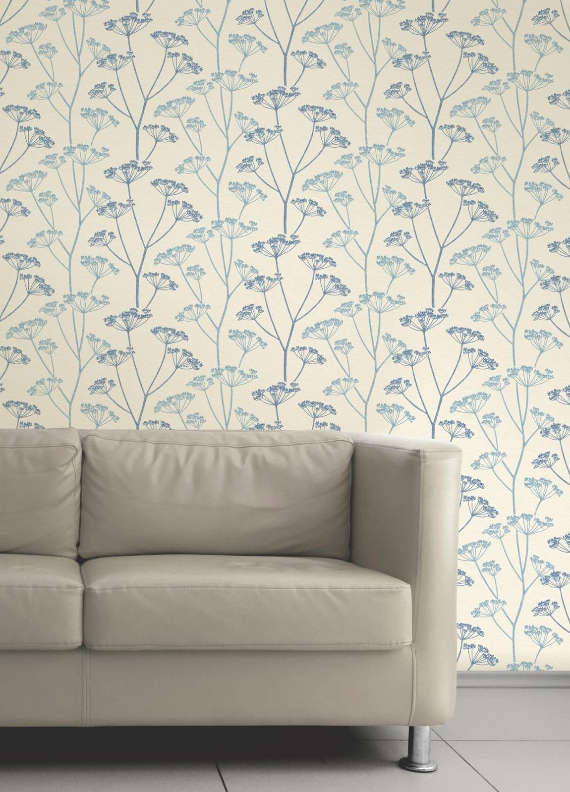 Off White Green and Grey Floral Flower Theme Wallpaper Fine Decor FD20680