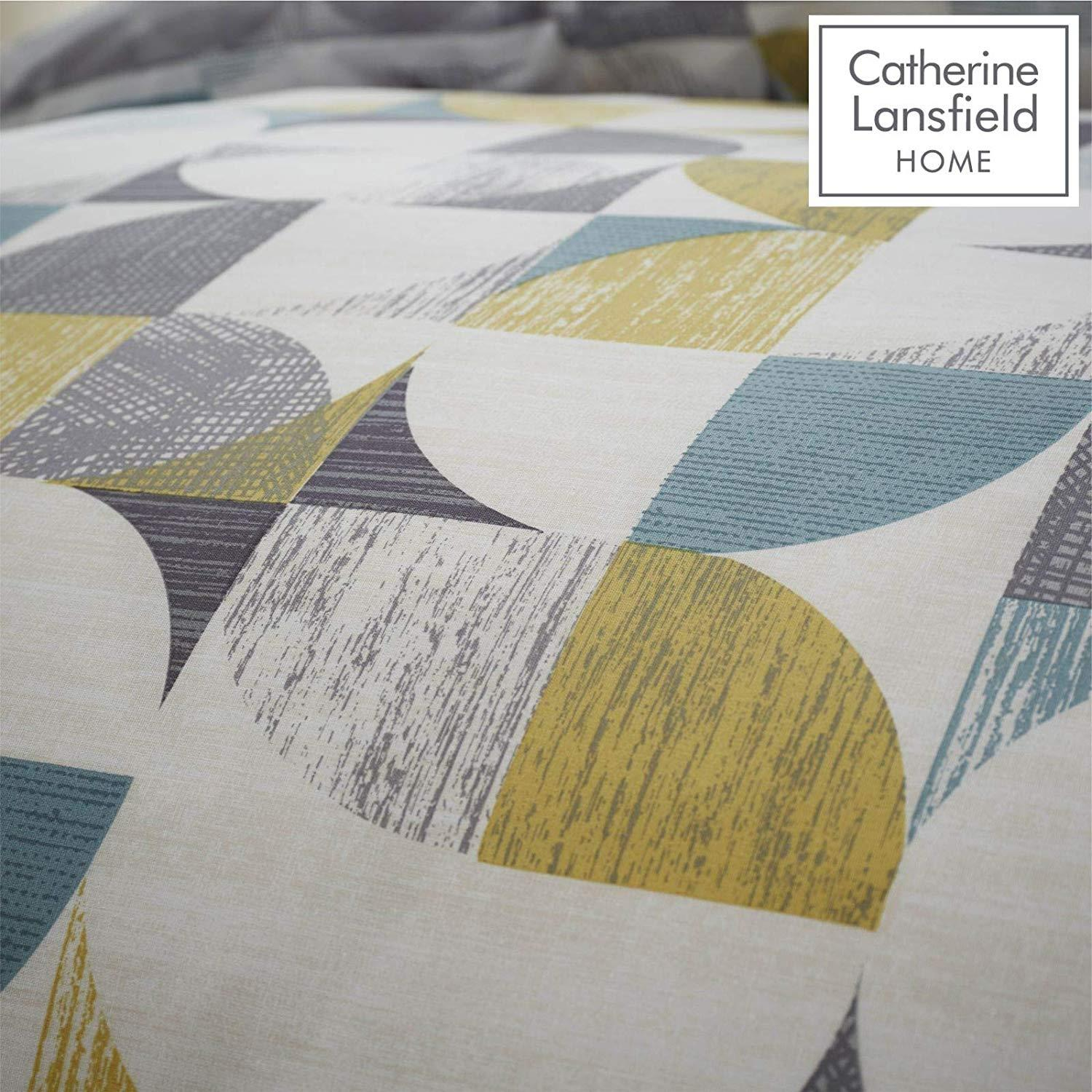 Catherine-Lansfield-Retro-Circles-Multi-Duvet-Set-Reversible-Bedding-Curtain thumbnail 13