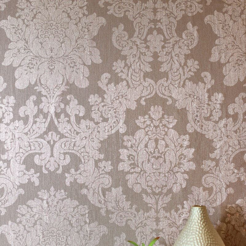 Champagne Gold Rose Gold Metallic Wallpaper Vinyl Floral Geometric Leaf Arthouse