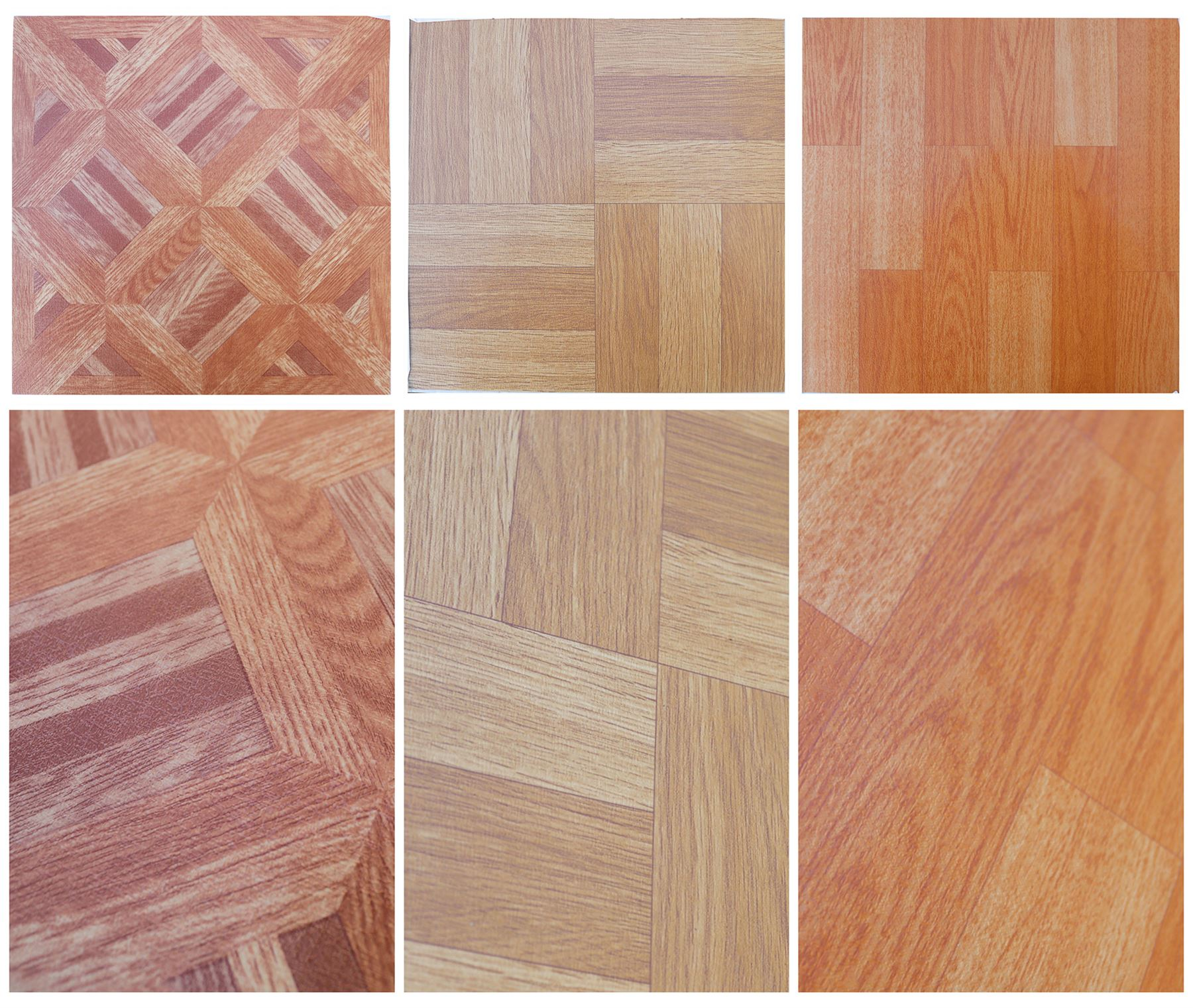 Vinyl Floor Tiles Wood Effect Parquet Panels Squares Self Adhesive