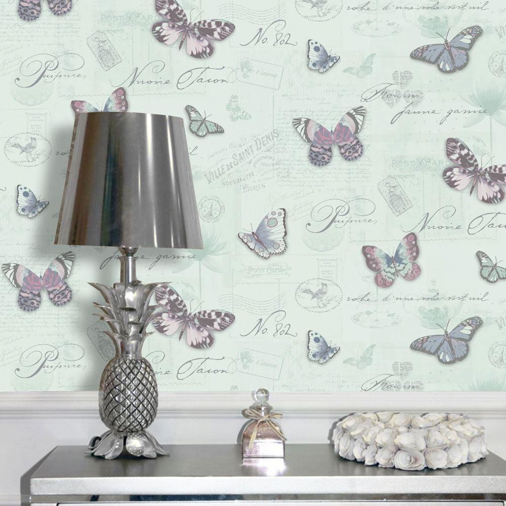 Butterfly Butterflies Calligraphy Wallpaper Paste The Wall Paris Holden Decor