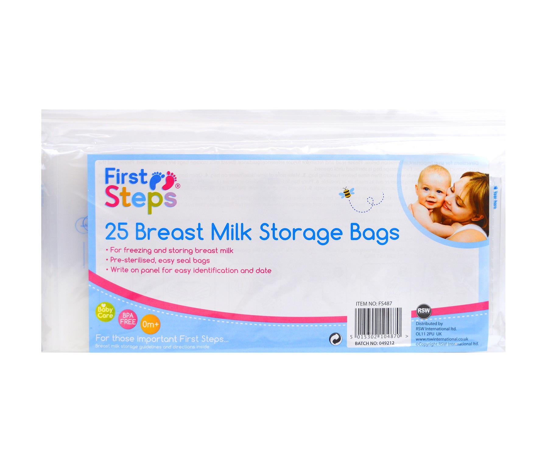 Breast Milk Storage Bags Freezer Pre Sterilised Easy Seal Storage Containers