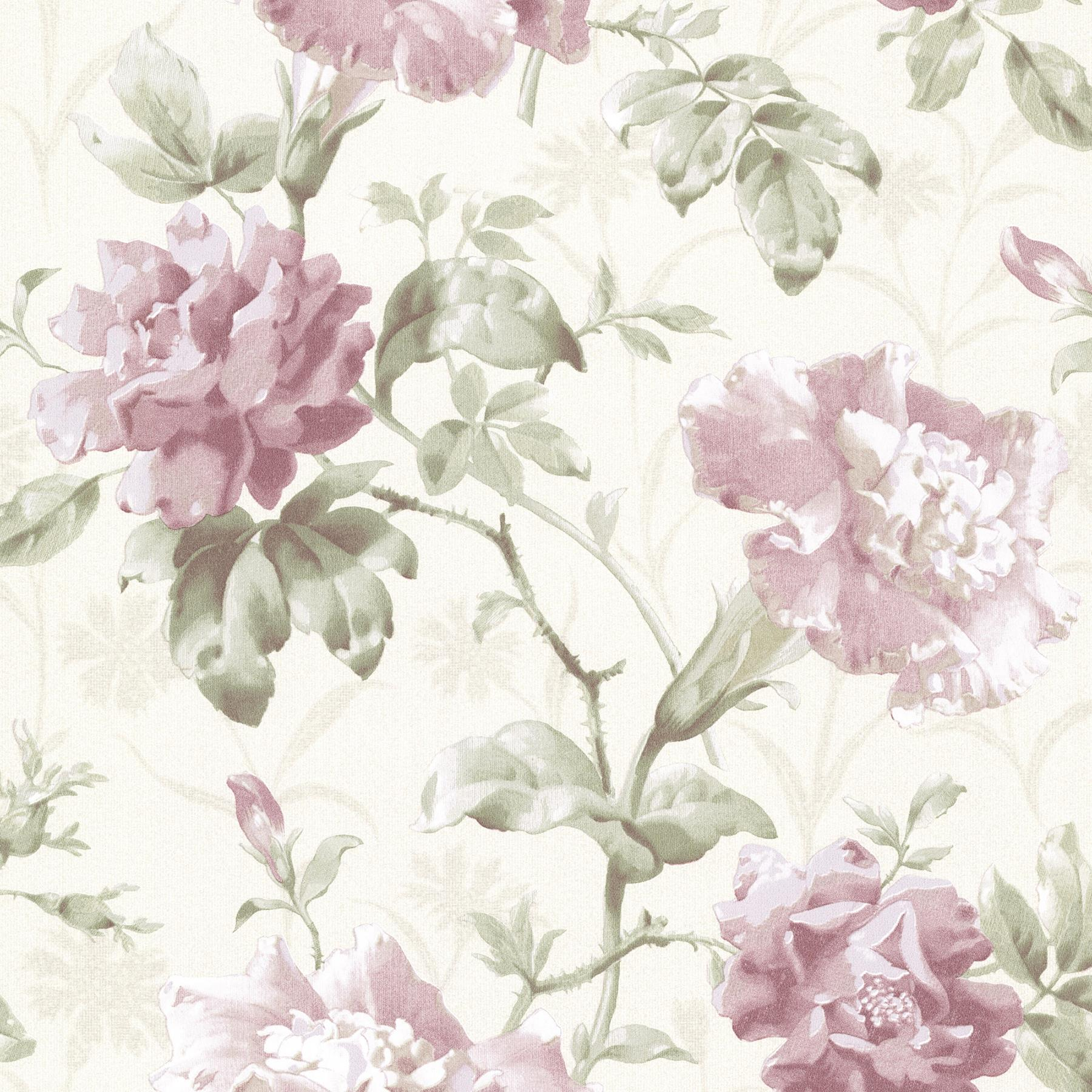 Floral Garden Wallpaper Rose Flower Vintage Retro ...