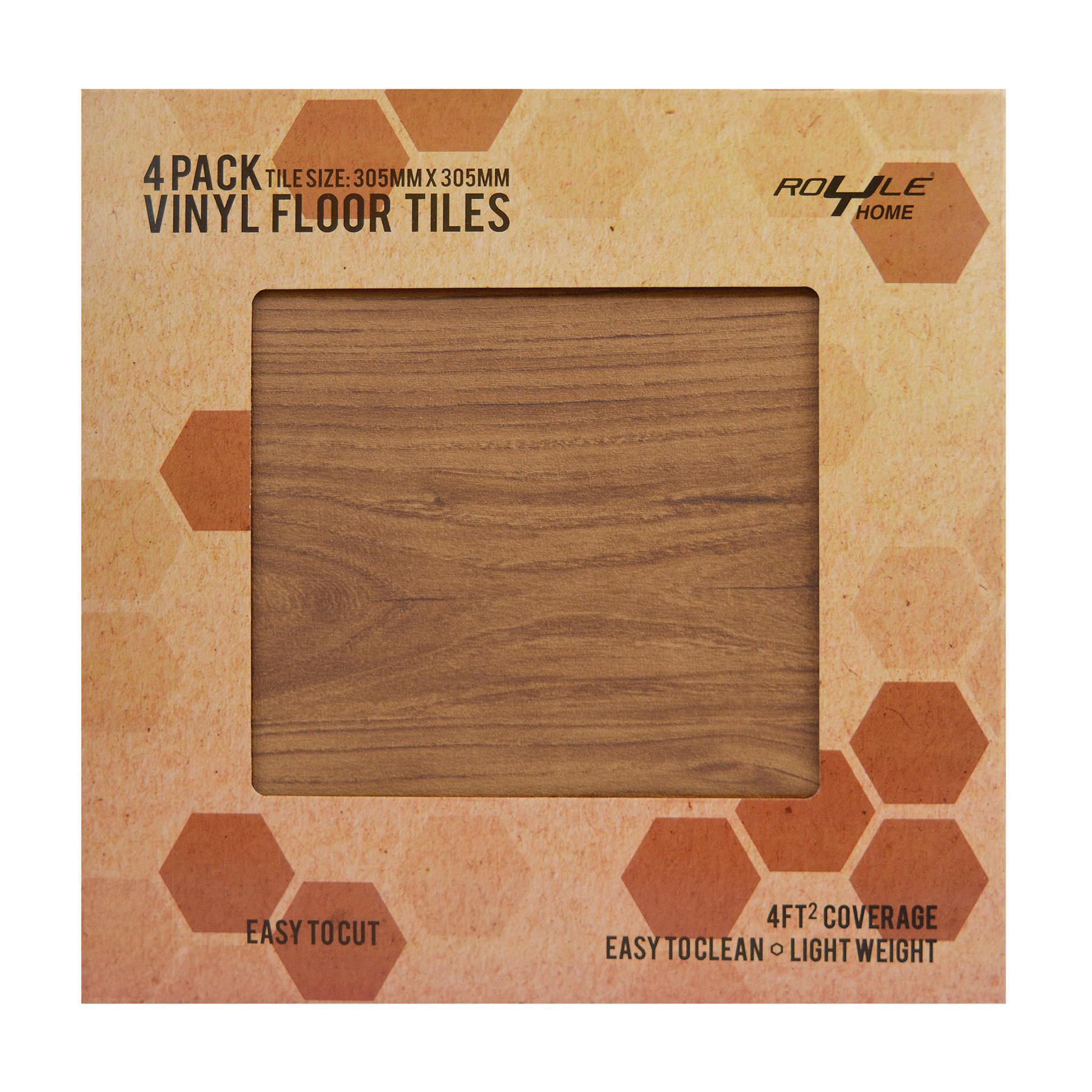 Floor-Tiles-Self-Adhesive-Vinyl-Flooring-Kitchen-Bathroom-Brown-Wood-Grain thumbnail 7